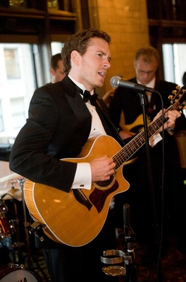 Band plays at wedding reception