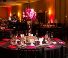 Pink and black Hotel Maya wedding reception theme
