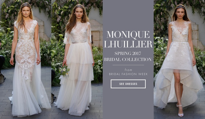 Whimsical and Dramatic Wedding Dresses from Monique Lhuillier Spring ...