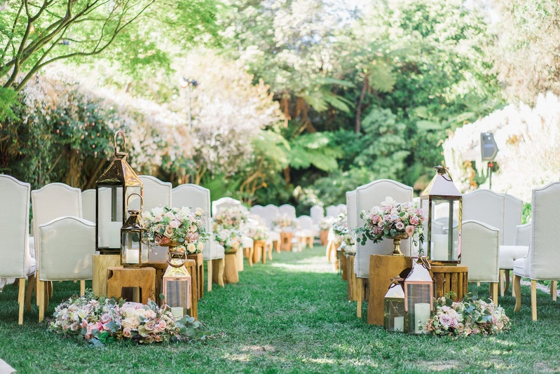 Brown Chairs Outdoor Ceremony Decorations: Upholstered Grey Ceremony Chairs