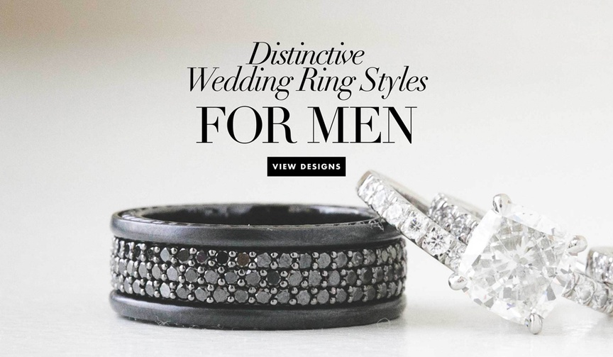 Unique non traditional wedding bands and wedding rings for men grooms