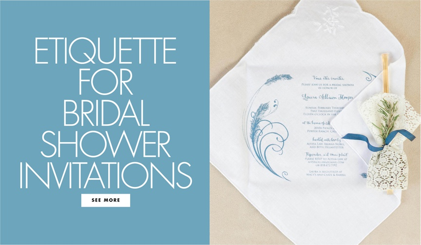 etiquette for bridal shower invitations what information to include