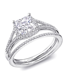 Charisma collection split-shank band with diamond center