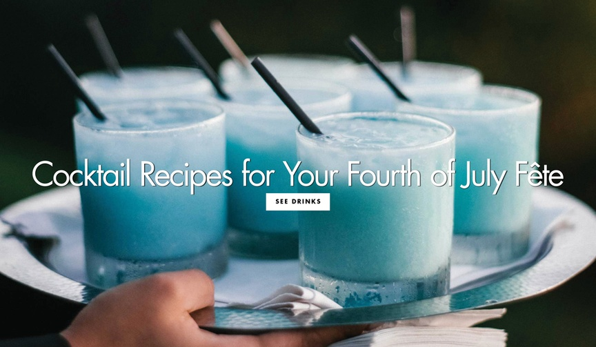 4 cocktail recipes 4th fourth of july pre wedding parties engagement bridal shower outdoor summer