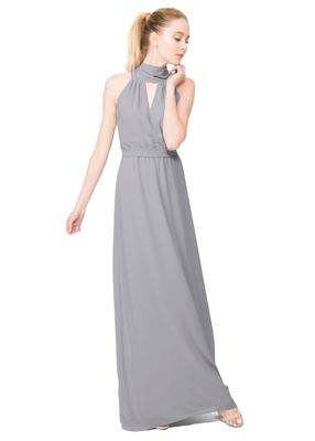The Riggs dress features an elegant tied scarf neckline - A silhouette sure to make your 'maids stan