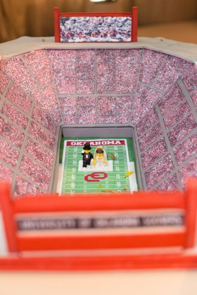 Groom's cake replica of OU football stadium