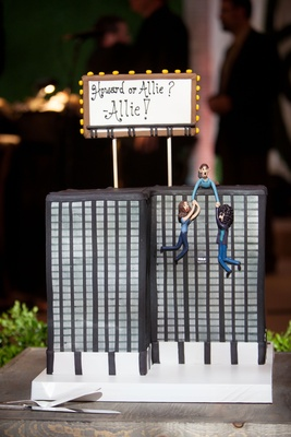 groom's cake funny creative cake topper building groom saving bride or howard stern