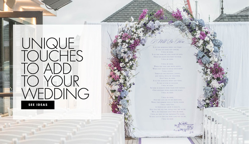 Unique touches to add to your wedding wedding paper goods ceremony reception decoration ideas