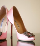Manolo Blahnik heels with buckle embellishment