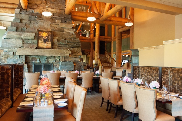 Moonlight Basin Lodge restaurant wedding reception location in Big Sky, Montana