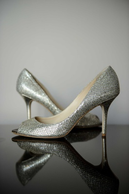 jimmy choo silver wedding shoes metallic shimmer bridal heels peep toe