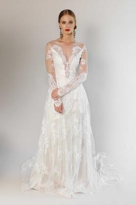 Romantique by Claire Pettibone Spring 2017 California Dreamin' Pasadena long sleeve wedding dress