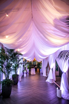 wedding reception four seasons hotel los angeles at beverly hills entrance to reception palm trees