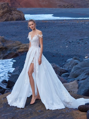 1d923cee3e7 GALA No. V 5 Collection by Galia Lahav wedding dress minidress with cap  sleeves ball