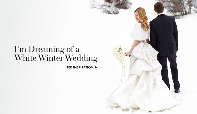 Winter wedding ideas for all-white wedding decorations