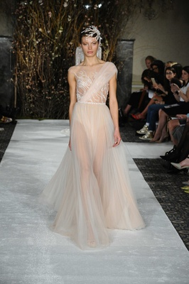 See nature inspired wedding dresses from mira zwillinger for Nature themed wedding dress
