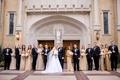 bride groom wedding party metallics bridesmaids tuxes groomsmen church dallas christian catholic