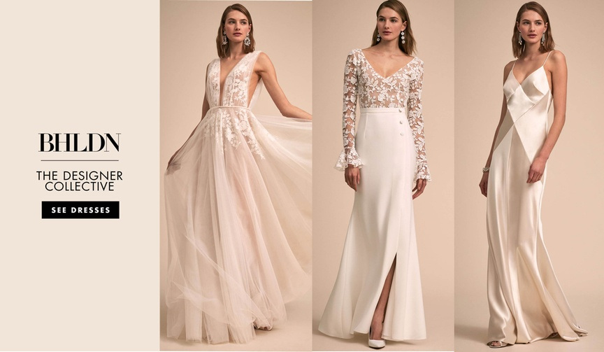 See the wedding dresses in The Designer Collective from BHLDN.