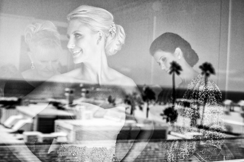 Bride getting ready at Shutters on the Beach Santa Monica CA