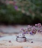Men's band, eternity band, and halo diamond ring