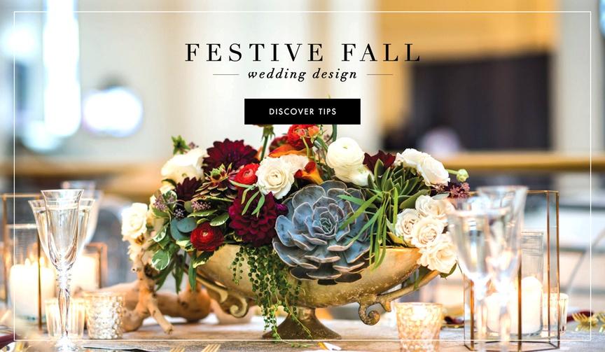 Fall or autumn wedding flower and design ideas