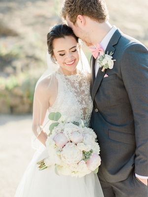 YouTube singer Megan Nicole and husband cooper green on wedding day maggie sottero wedding dress