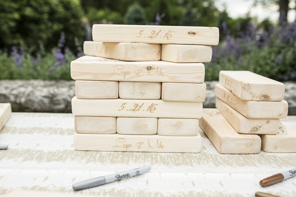jenga game wedding guest book reception writing well wishes love friends family unique cute