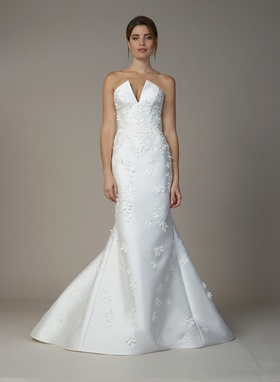 Liancarlo Fall 2018 bridal collection strapless radzmir silk mermaid gown