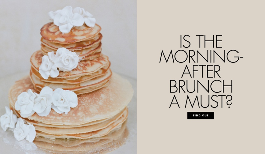 Is the morning after wedding brunch a necessity? Find out