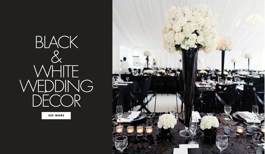 Black and white wedding decorations pros and cons of color palette