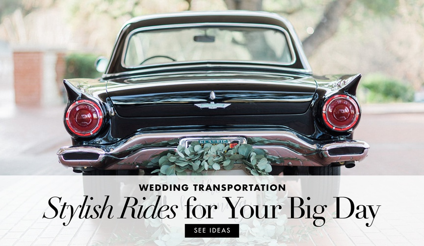 View chic transportation methods from real weddings to inspire your own ride