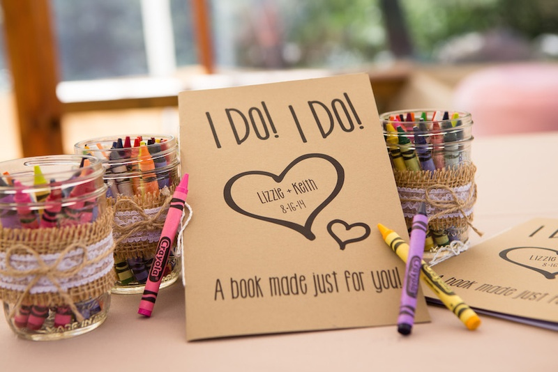 Neutral-toned coloring book with colorful crayons