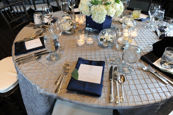 Genevieve Cortese and Jared Padalecki's wedding table