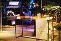 destination wedding in mykonos greece loukoumade and baklava desserts station espresso truck