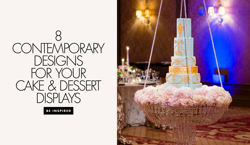 8 unique cake dessert displays wedding reception after party sweet treats fancy chandelier stand