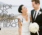 Tips for brides getting married on the beach what to do with wedding dress