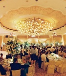 Wedding reception at the crystal ballroom of The Beverly Hills Hotel