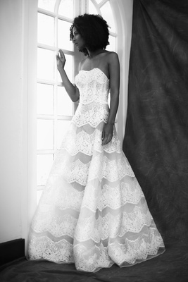 Francesa Miranda fall 2019 bridal collection wedding dress Ginevra embroidered tulle ball gown