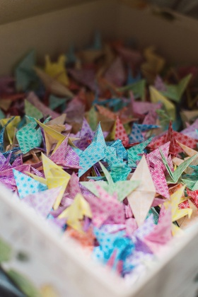 folded japanese origami cranes tradition gift japan interracial couple father by hand 1000