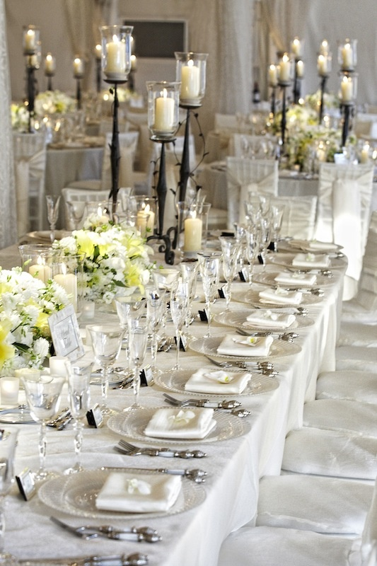 Reception D 233 Cor Photos Long White Tablescape Inside