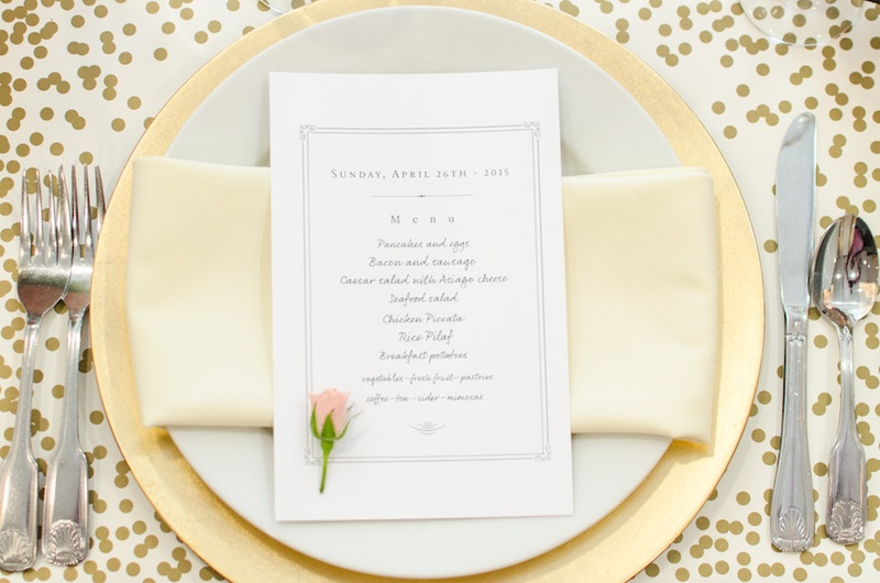 Showers Amp Parties Photos Gold Amp Cream Place Setting