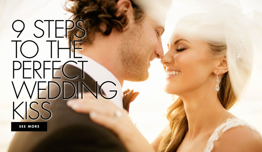 Nine steps to the perfect wedding kiss how to make your first kiss photo the best