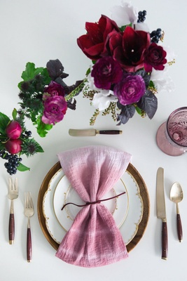 Gather Events Marsala Tablescape styled shoot
