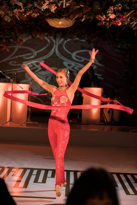 ribbon dancer, rhythmic gymnastics, unique performances for wedding reception