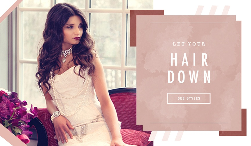 How to wear your hair down on your wedding day