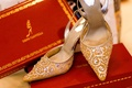 René Caovilla bridal shoes with crystals