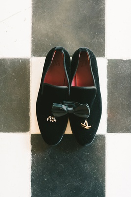 black velvet loafers black tux bow tie cuff links
