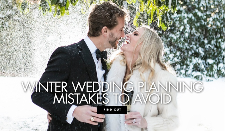 winter wedding planning mistakes to avoid