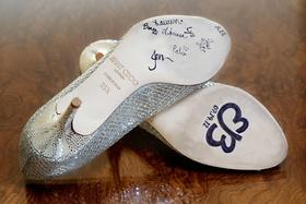 Bridesmaids signatures on Jimmy Choo heels