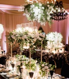 Charlise Castro and Houston Astros mlb player George Springer III wedding reception table